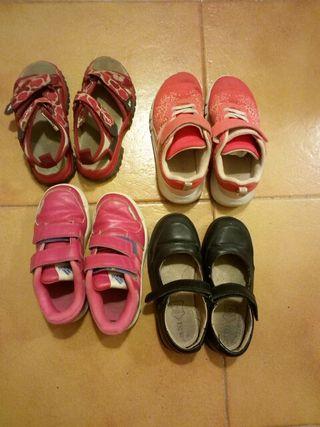 4 pares zapatos numero 28