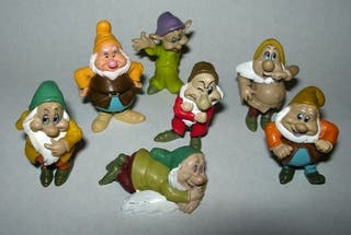 Lote figura de goma - Los siete enanitos SIMBA