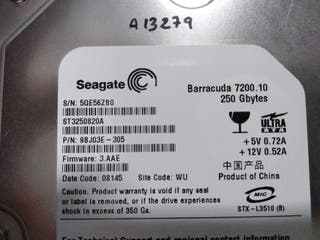 vendo disco duro Barracuda de 250GB