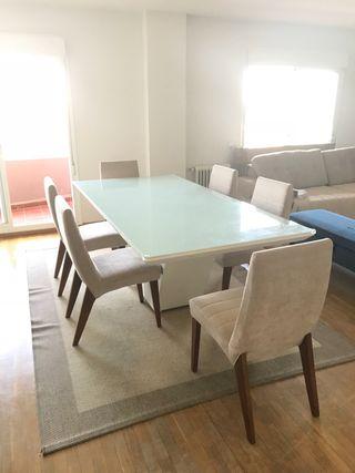 Mesa comedor madera de segunda mano en wallapop for Mesas de comedor de cristal segunda mano