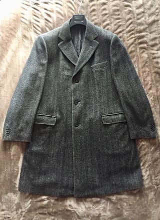 ZEGNA Abrigo espiga caballero 100% lana, talla 56