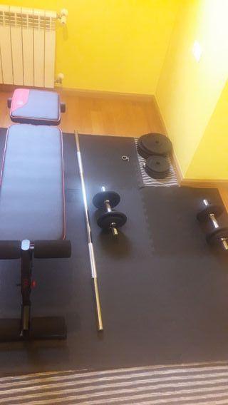 pesas + banco