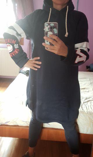 Vestido sudadera azul marino talla:46