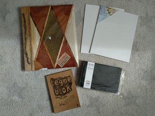 Lote NUEVO. Album, lienzos y blog