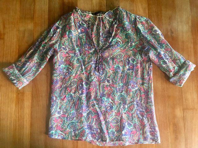 4bdde63bb Camisa Zara mujer de segunda mano por 15 € en Madrid en WALLAPOP