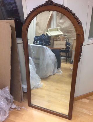 Espejo Antiguo Tallado
