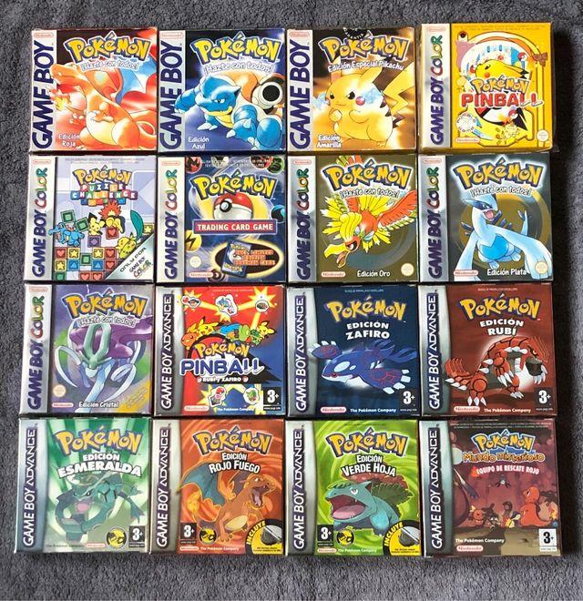 Coleccion Completa Juegos Pokemon Gbc Y Gba De Segunda Mano Por 750
