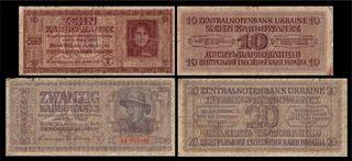 billetes segunda guerra mundial