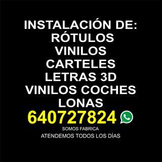 Instalación de Vinilos, ROTULOS, CARTELES VINILOS