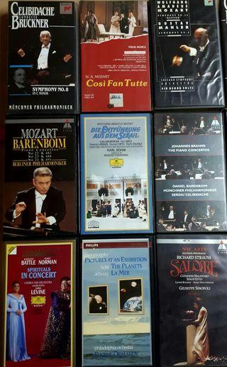 Lote VHS opera y música clásica.