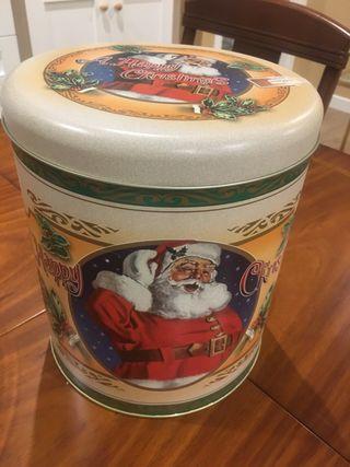 Caja metálica grande Navidad