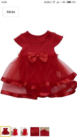 Rebajado! Vestido bebé Talla. 6-9 meses 1 puesta