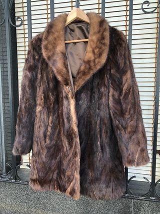 Abrigo piel de visón