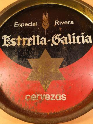 bandeja antigua estrella galicia
