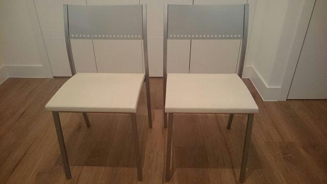 2 sillas de cocina tapizadas en piel de segunda mano por 129 € en ...