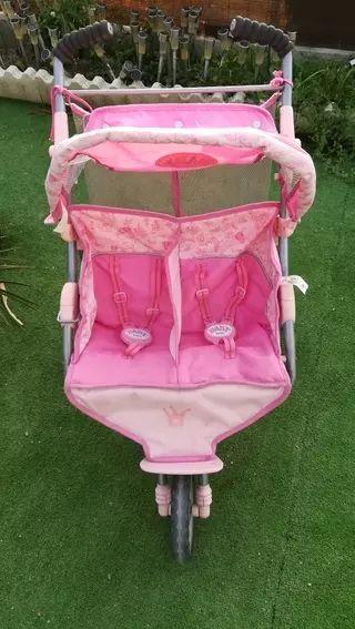 carro gemelar baby born
