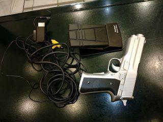 Pistola con pedal para PlayStation.