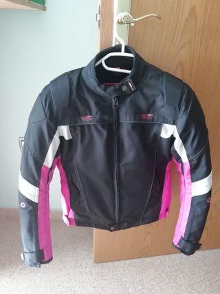 Chaqueta cordura moto chica rosa