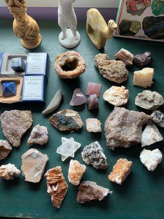 Colección de 30 minerales + libro