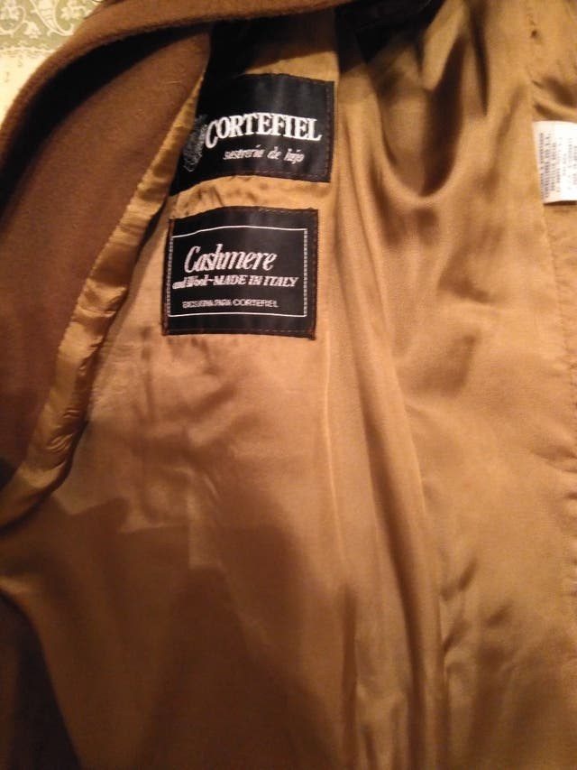 abrigo cachemira lujo ropa