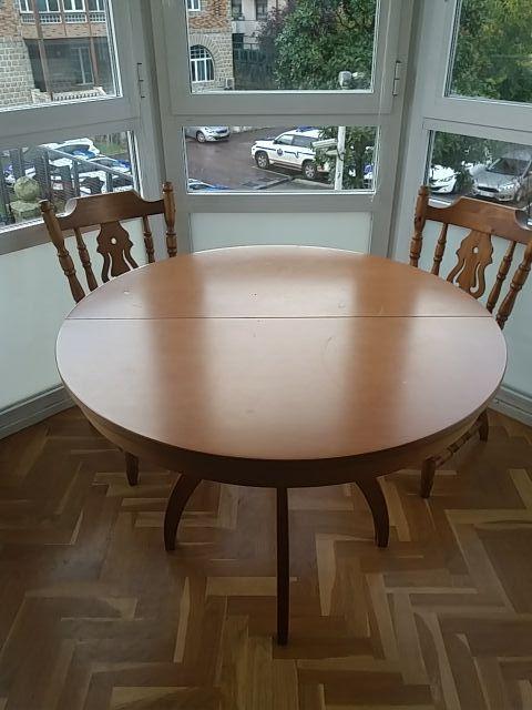 Mesa redonda extensible comedor o cocina de segunda mano por ...