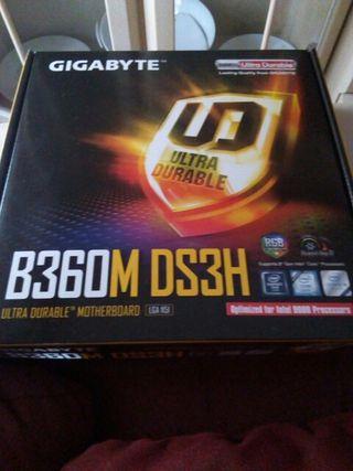 Placa Base Gigabyte B360M DS3H. 100% NUEVA.