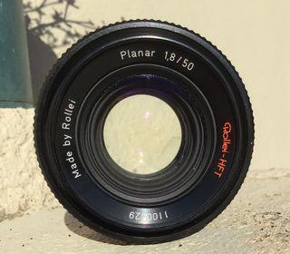 Objetivo Rollei Planar 50f1,8 como el Carl Zeiss