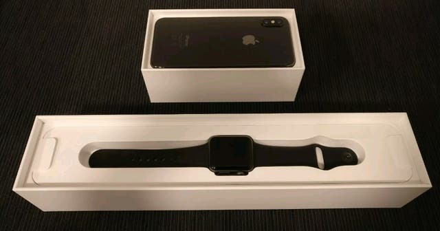 IPhone X 64GB Unlocked with Apple iWatch Series 3