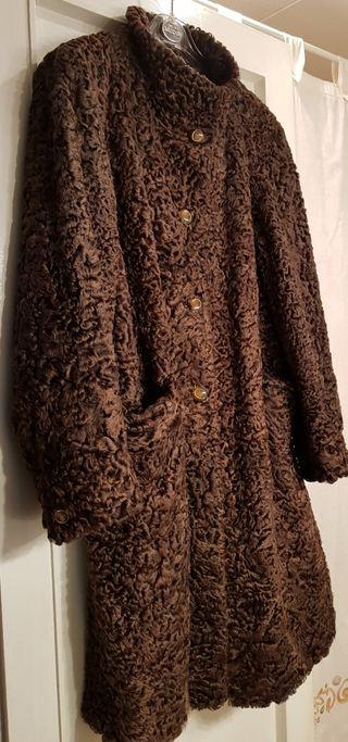 Abrigo 3/4 Astracan marrón