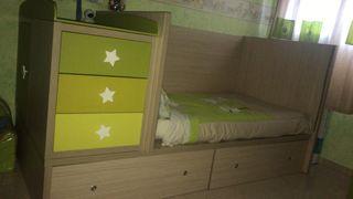 Convertible niño/a cama modulo.