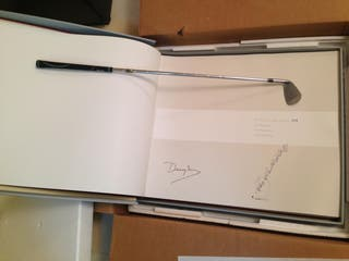 SPECIAL GOLF BOOK SIGNED BY SEVE BALLESTEROS