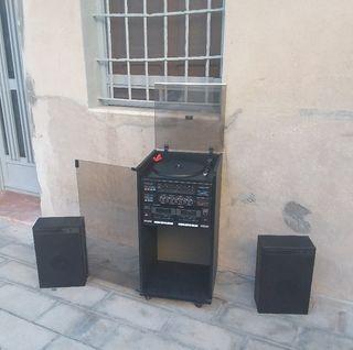 Equipo de música disco vinilo cintas cassett radio