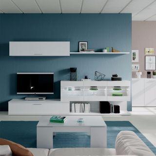 Mueble completo moderno de salón comedor vitrina l