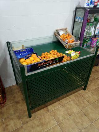 mostrador expositor fruta