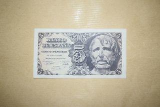 Billete 5 pesetas 1947 Sin Serie, Sin Circular -