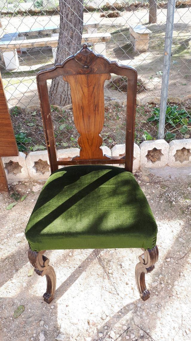 4 sillas de comedor antiguas de segunda mano por 20 € en Monóvar en ...