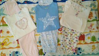 Niña T.4-5A lote de 2 pijamas