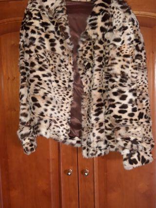 chaqueton auténtico de leopardo