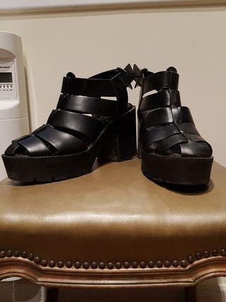 Zapatos con tacon 37 piel