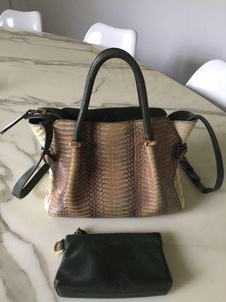 Sac Nina Ricci en python et cuir produit original