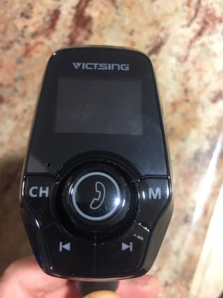 Transmisor FM cargador de coche USB bluetooth