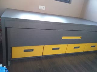 Cama nido gris i amarilla