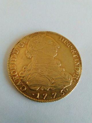 Moneda antigua de oro, Carlos III.