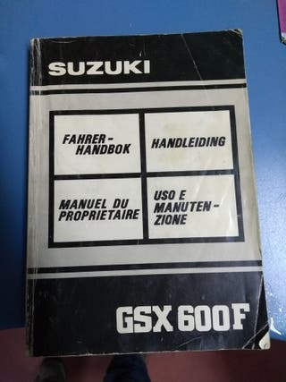 manual de usuario Suzuki gsx 600 f