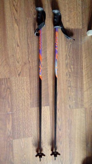 Bastón de esquiar de aluminio .115 cm
