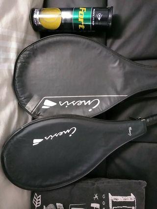 Juego de raquetas tennis