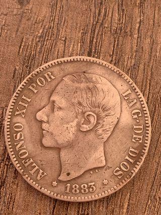 Moneda 5 pesetas Alfonso XII