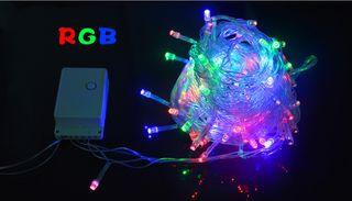 Guirnalda LED 10M 100LED RGB 220V