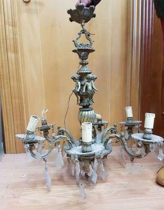 lampara de bronce muy antigua