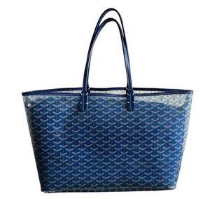 grand sac cabas vinyl transparent et bleu